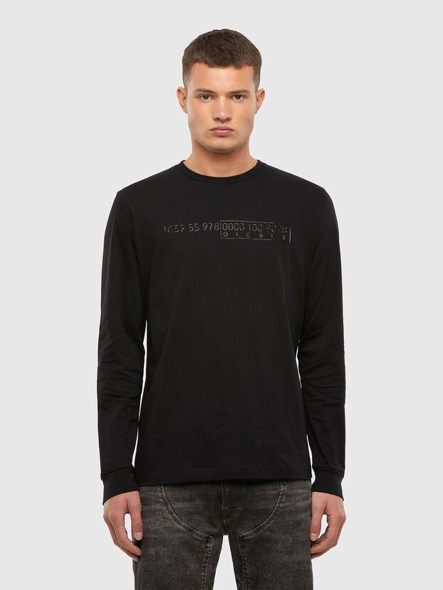 T-DIEGOS-LS-X5, Schwarz - T-Shirts
