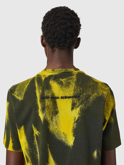 Diesel - T-JUST-B84, Vert/Jaune - T-Shirts - Image 4
