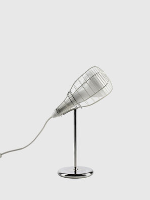 CAGE MIC BIANCO,  - Tischlampen