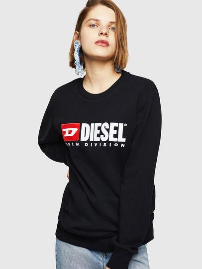Diesel - F-GIR-DIVISION-FL, Schwarz - Sweatshirts - Image 1