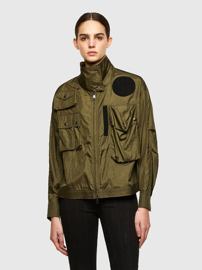 Diesel - C-CORAL, Military Green - Shirts - Image 1