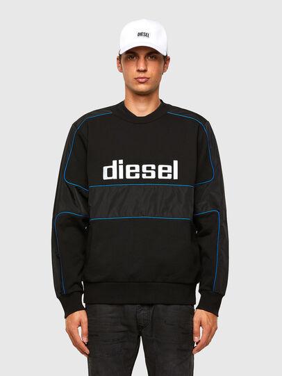 Diesel - S-LAIN, Noir - Pull Cotton - Image 1