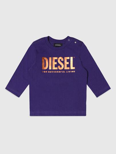 Diesel - TJUSTLOGOB-FL ML, Violet - T-shirts et Hauts - Image 1