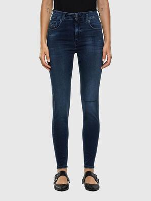 Slandy High 009LR, Mittelblau - Jeans