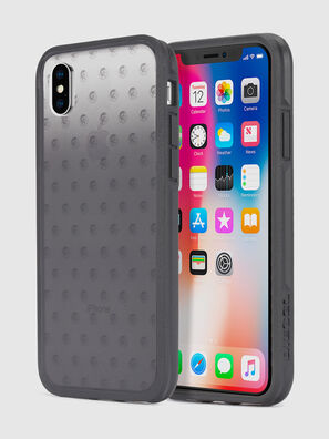 MOHICAN HEAD DOTS BLACK IPHONE X CASE,  - Schutzhüllen