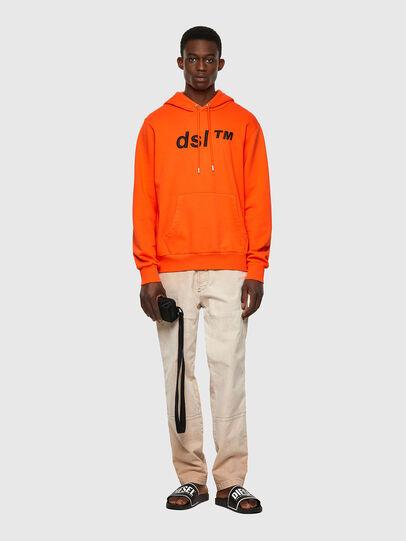 Diesel - S-GIRK-HOOD-B4, Arancione - Felpe - Image 4