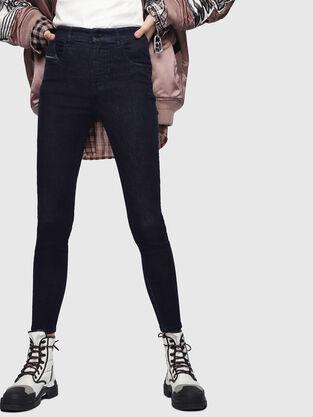 Slandy High 089AB, Dunkelblau - Jeans