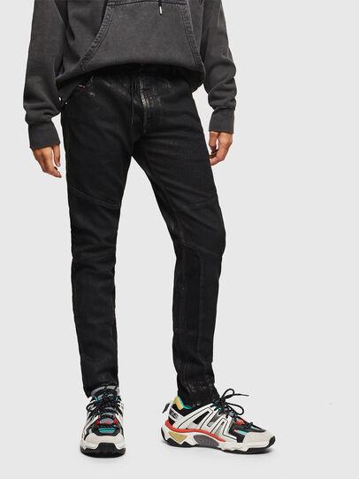 Diesel - D-Luhic JoggJeans 0092W, Schwarz/Dunkelgrau - Jeans - Image 1