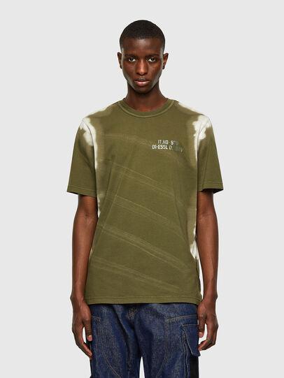 Diesel - T-JUBIND-SLITS-A3, Verde Militare - T-Shirts - Image 1