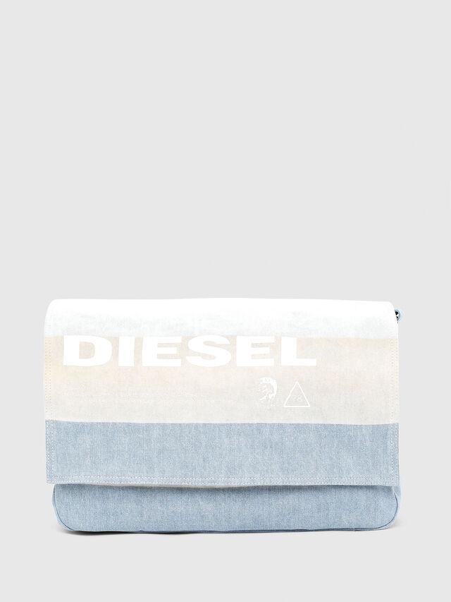 Diesel - D-THISBAG MESSENGER, Blau/Weiß - Schultertaschen - Image 1
