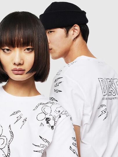 Diesel - CL-T-DIEGO-3, Weiß - T-Shirts - Image 4