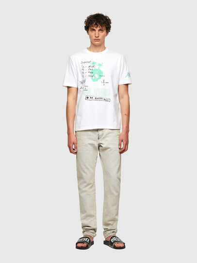 Diesel - T-JUST-B61, Weiß - T-Shirts - Image 7
