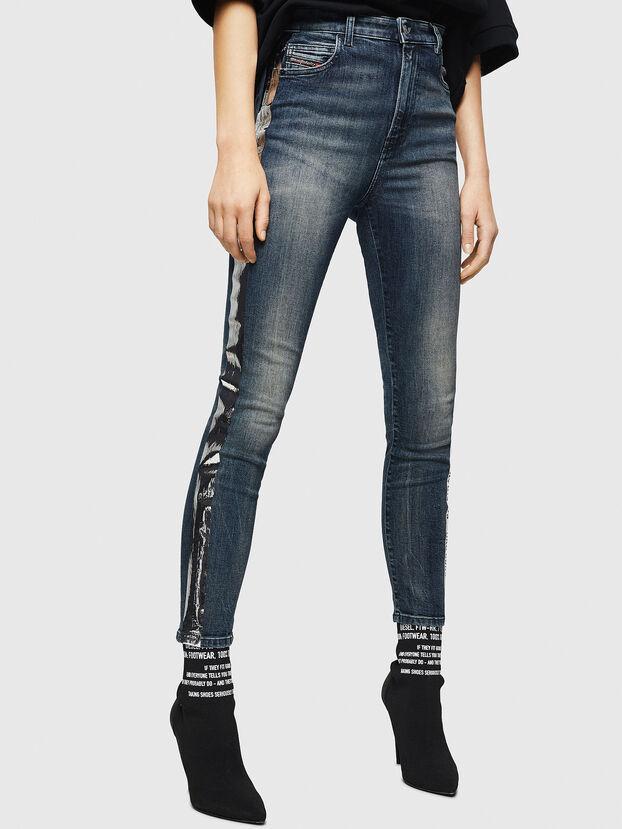 Babhila High 069HN, Dunkelblau - Jeans