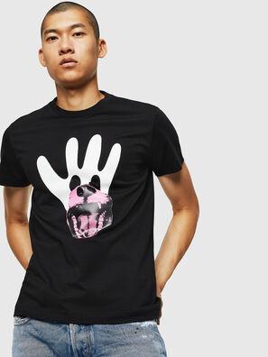 T-DIEGO-B18, Schwarz - T-Shirts