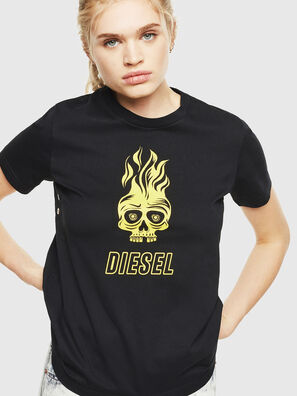T-SILY-WQ, Schwarz/Gelb - T-Shirts