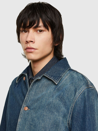Diesel - D-ROLK-SP, Blue - Denim Jackets - Image 3