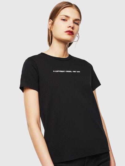Diesel - T-SILY-COPY, Schwarz - T-Shirts - Image 1