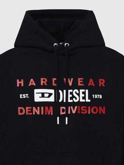 Diesel - S-GIRK-HOOD-K20, Schwarz - Sweatshirts - Image 3