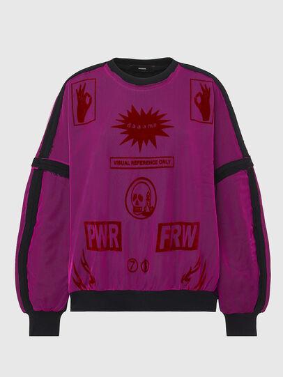 Diesel - F-TRULY, Fuchsie - Sweatshirts - Image 1