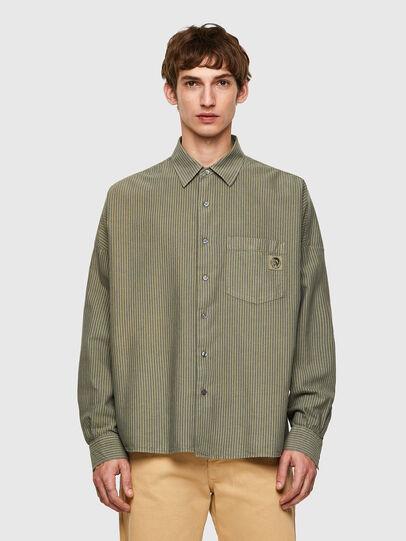 Diesel - S-LOOMY-B, Verde Militare - Camicie - Image 1