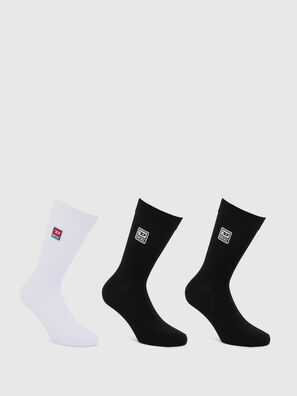 SKM-RAY-THREEPACK, Black/White - Socks