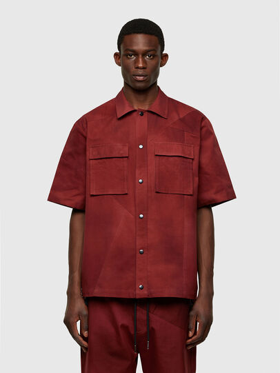 Diesel - S-GUNN-TIE, Rosso - Camicie - Image 1