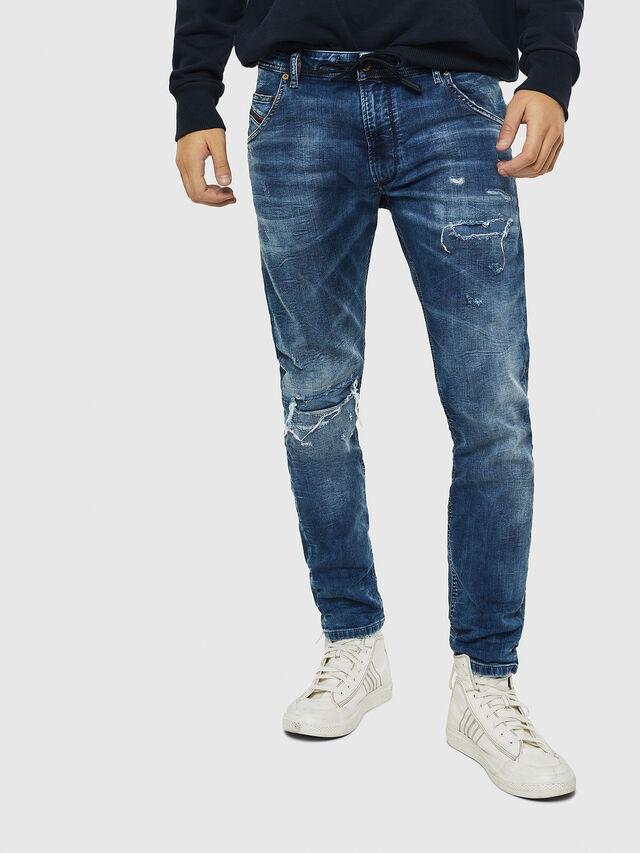 Diesel - Krooley JoggJeans 0685I, Mittelblau - Jeans - Image 1