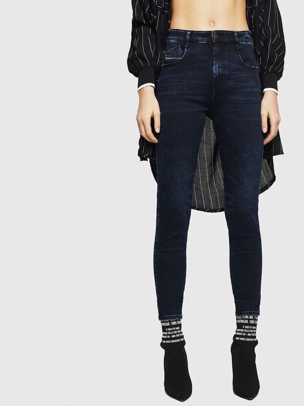 Slandy High 082AU, Dunkelblau - Jeans
