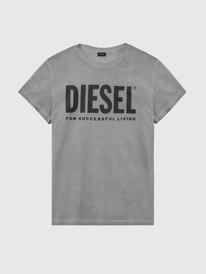 Diesel - T-SILY-WX, Gris foncé - T-Shirts - Image 1