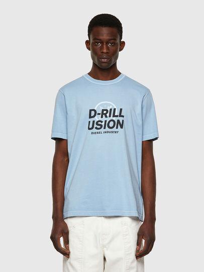 Diesel - T-JUBINDY, Blu Chiaro - T-Shirts - Image 1