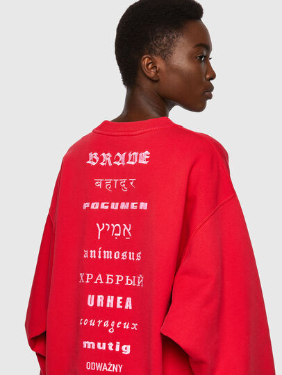 Diesel - F-EXA, Rouge - Pull Cotton - Image 3
