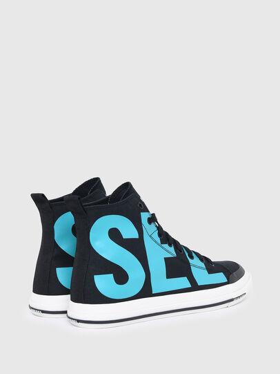 Diesel - S-ASTICO MID CUT, Nero/Blu - Sneakers - Image 3