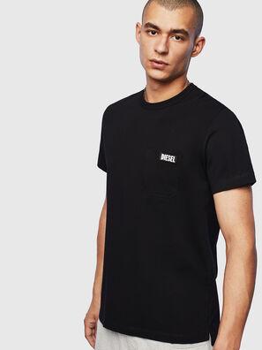 T-WORKY-SLITS, Schwarz - T-Shirts