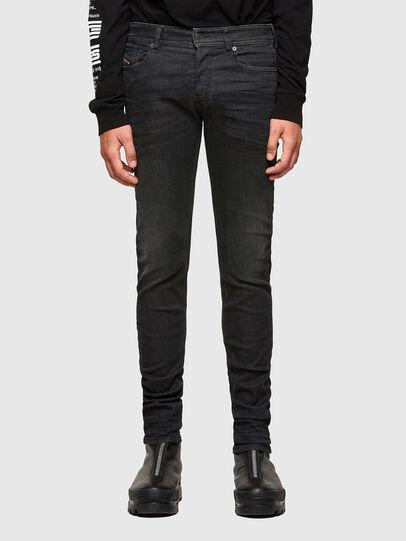 Diesel - Sleenker 009LY, Schwarz/Dunkelgrau - Jeans - Image 1