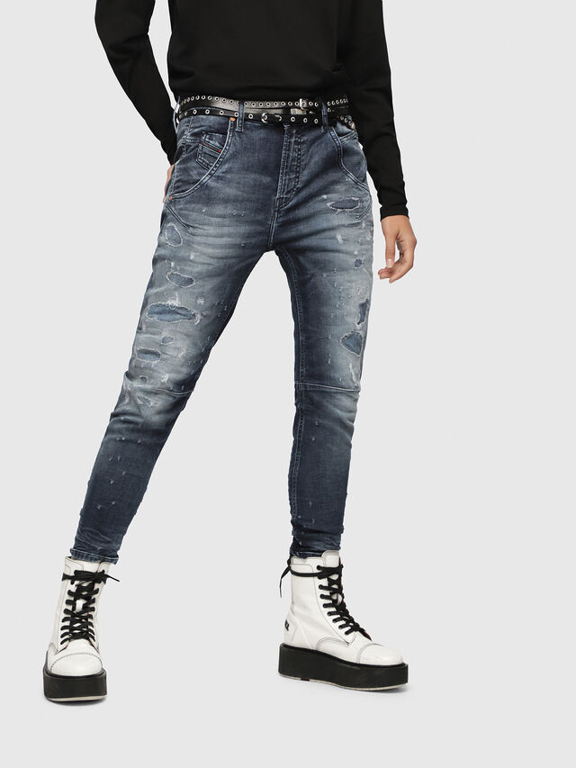 Diesel - Fayza JoggJeans 069CC, Mittelblau - Jeans - Image 1