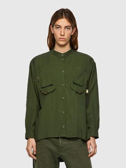 Diesel - C-EILEEN, Vert Olive - Chemises - Image 1