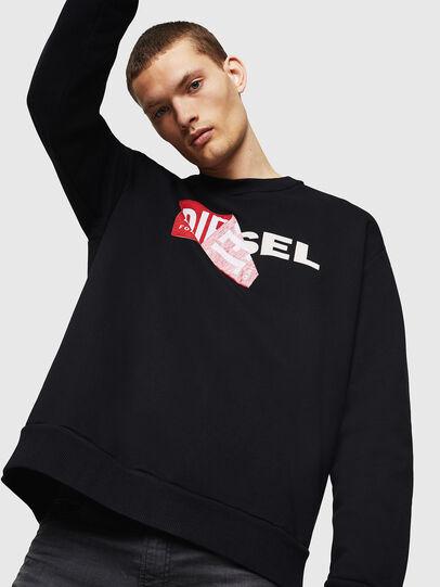 Diesel - S-SAMY, Schwarz - Sweatshirts - Image 4