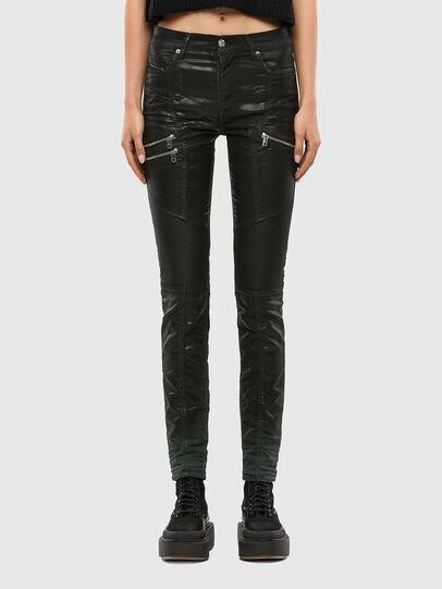Diesel - D-Ollies JoggJeans® 069QQ, Schwarz/Dunkelgrau - Jeans - Image 1