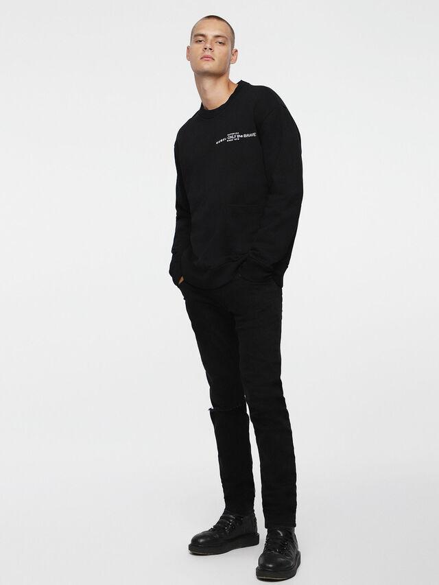 Diesel S-ELLIS-CL, Schwarz - Sweatshirts - Image 4