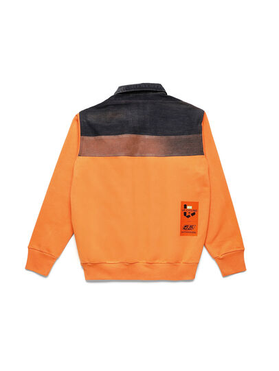 Diesel - D-BNHILL-S, Orange - Sweatshirts - Image 2