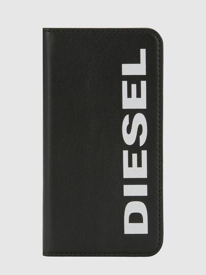 Diesel - SLIM LEATHER FOLIO IPHONE 8/7, Schwarz - Klappcover - Image 6