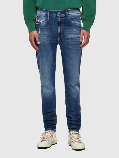 Diesel - D-Istort 009PU, Blu medio - Jeans - Image 1