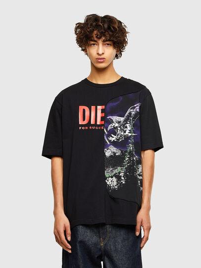 Diesel - T-BLAST, Nero - T-Shirts - Image 1