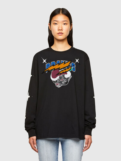 Diesel - CL-T-JUST-LS-O, Nero - T-Shirts - Image 2