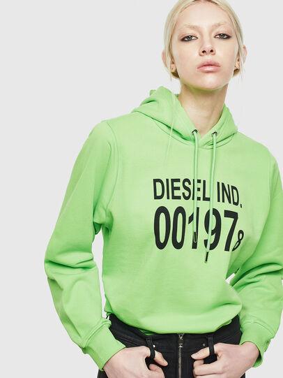 Diesel - F-ANG-HOOD-J1, Neongrün - Sweatshirts - Image 4