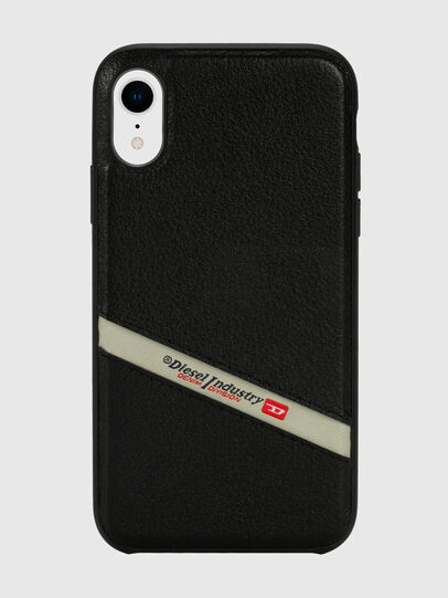 Diesel - DIESEL LEATHER CO-MOLD CASE FOR IPHONE XR, Schwarz - Schutzhüllen - Image 2