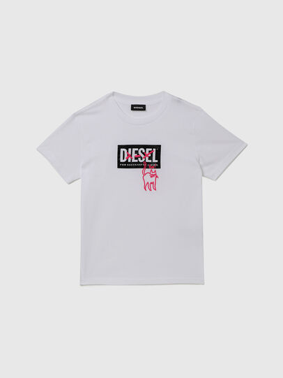Diesel - TUDARICAT, Blanc - T-shirts et Hauts - Image 1