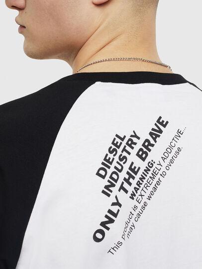 Diesel - T-RODDI, Weiß/Schwarz - T-Shirts - Image 4