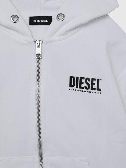 Diesel - SGIRKHOODZIP-LOGO OV, Weiß - Sweatshirts - Image 3