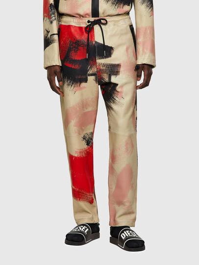 Diesel - P-TOLLER-CMF, Rouge/Blanc - Pantalons - Image 1